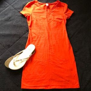 Plain orange Old Navy dress